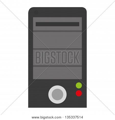 grey cellphone with round button on front vector illustration