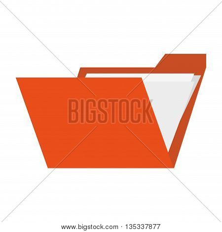 folder with paper documents inside vector illustration