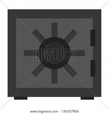 grey simple safety vault vector illustration flat style design