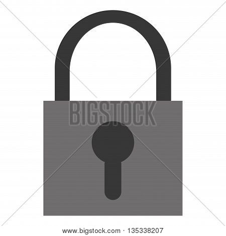 grey safety lock with keyhole on front vector illustration