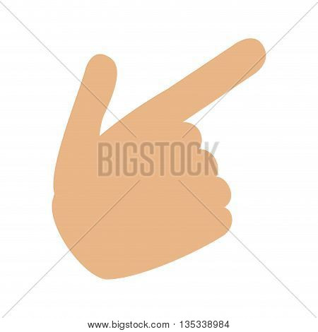 hand pointing with index finger vector illustration