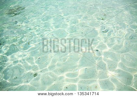 Crystal clear sea water with sand based
