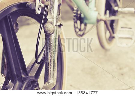 close up image of bmx bike details