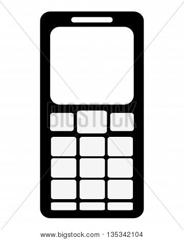 black cellphone with several buttons below the screen vector illustration