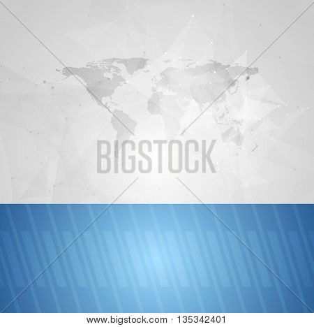 Blue grey contrast technology abstract background. Vector tech graphic design