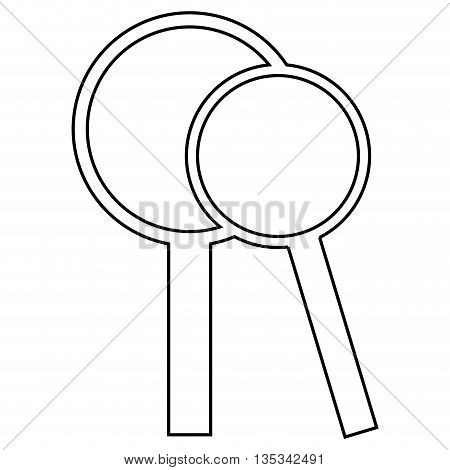 loupe vector glass magnifying illustration search design