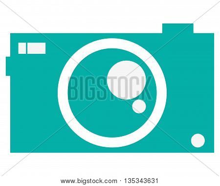 icon of potography camera flat style, vector design