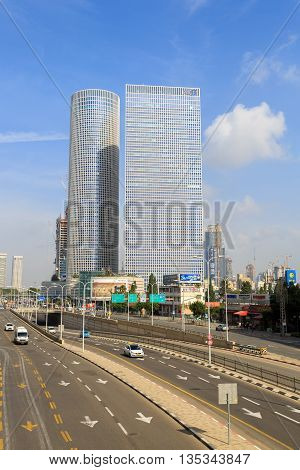 Tel-aviv, Israel - January 22, 2016: View On Azrieli Center Towers
