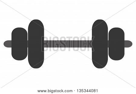 simple grey barbell vector illustration flat style design