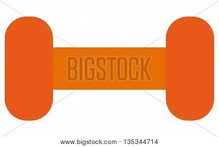 simple orange dumbell vector illustration flat style design