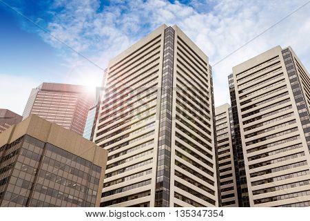 Downtown Office Buildings In Calgary, Alberta