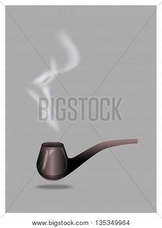 vintage wooden tobacco pipes vector, hand drawing