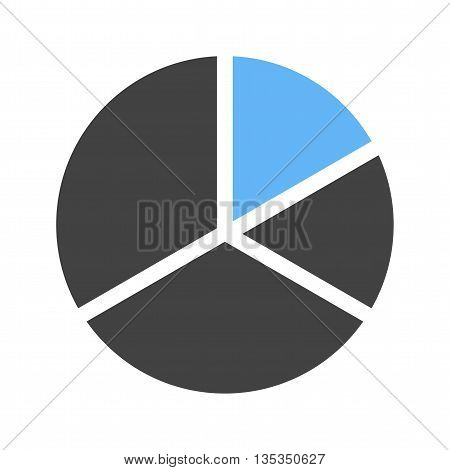 Chart, pie, graph icon vector image. Can also be used for infographics. Suitable for use on web apps, mobile apps and print media.