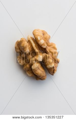 Walnut isolated on natural white background, with natural shadows