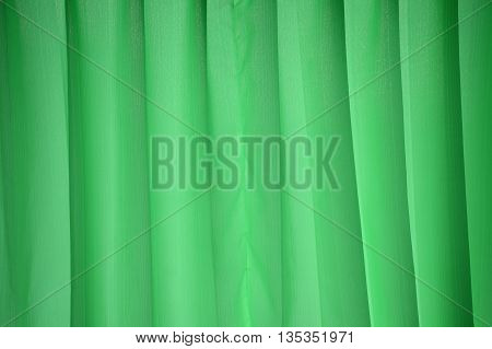 green curtain or drapery texture for background