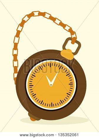 Time design over white background, vector illustration.