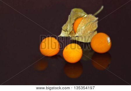 a fruit that barely visible. perfect image that puts out. purity