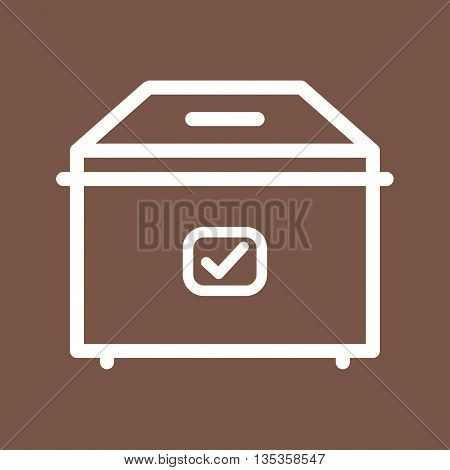 Ballot, box, vote icon vector image.Can also be used for elections. Suitable for web apps, mobile apps and print media.