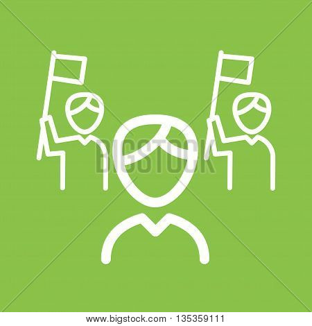 Campaign, political, election icon vector image. Can also be used for elections. Suitable for use on web apps, mobile apps and print media.