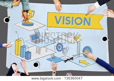 Vision Mission Planning Aspirations Process Concept