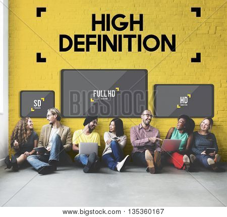 High Definition Images Network Resolution Stream Concept