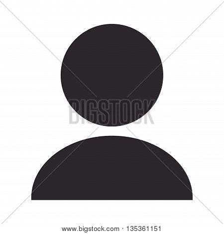 simple unisex person pictogram vector illustration flat style design