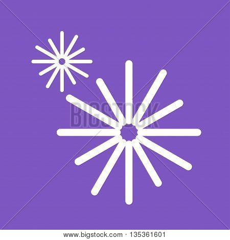 Fireworks, celebration, new icon vector image. Can also be used for celebrations. Suitable for web apps, mobile apps and print media.