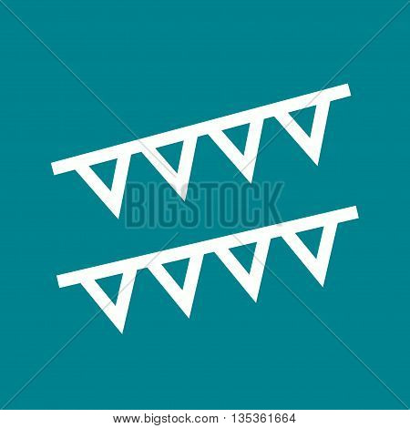Party, celebration, flags icon vector image. Can also be used for celebrations. Suitable for web apps, mobile apps and print media.