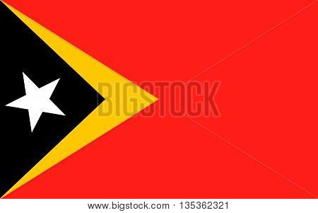 Flag of East Timor or Timor-Leste officially the Democratic Republic of Timor-Leste is a sovereign state in Maritime Southeast Asia.