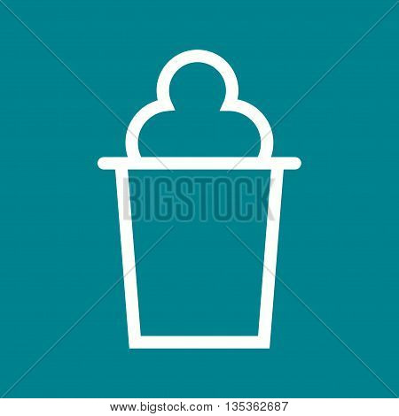 Cone, icecream, refreshment icon vector image. Can also be used for celebrations. Suitable for use on web apps, mobile apps and print media