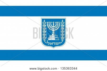 Flag of Israel officially the State of Israel is a country in the Middle East on the southeastern shore of the Mediterranean Sea and the northern shore of the Red Sea.
