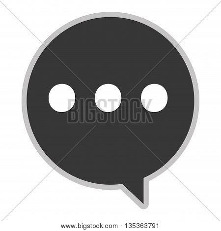 simple grey round conversation bubble vector illustration