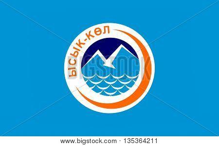 Flag of Issyk-Kul Region is one of the regions of Kyrgyzstan. Its capital is Karakol.