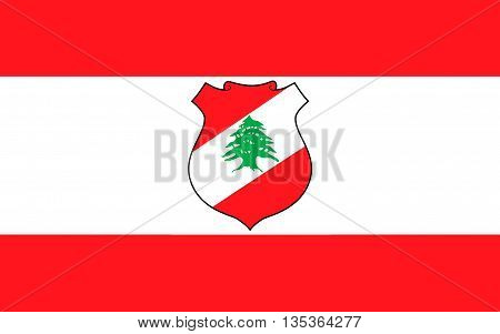 Flag of Lebanon officially the Lebanese Republic is a sovereign state in Western Asia.