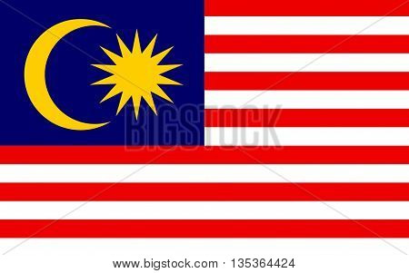 Flag of Malaysia is a federal constitutional monarchy located in Southeast Asia.