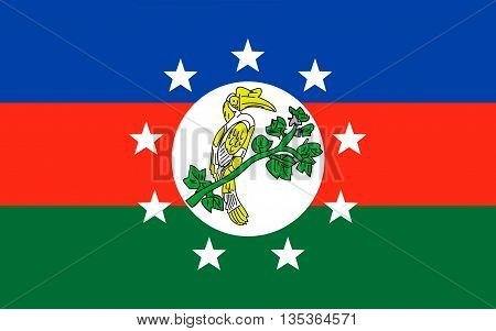 Flag of Chin State is a state in western Myanmar.