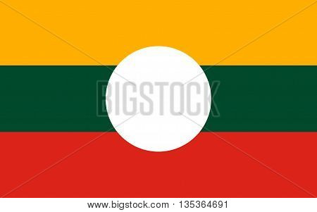 Flag of Shan State is a state of Myanmar.