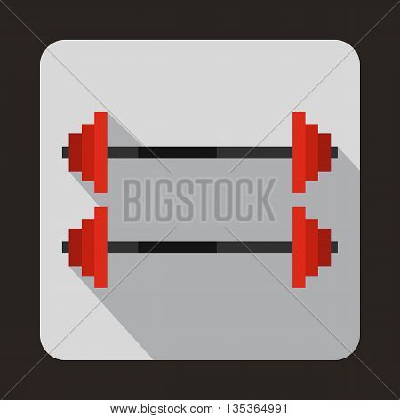 Two barbells icon in flat style for any design