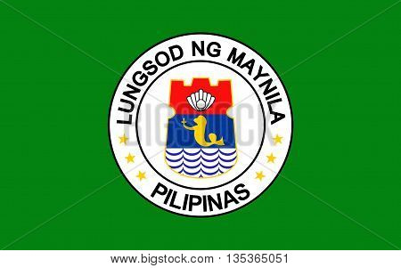 Flag of Manila is the capital city of the Philippines.