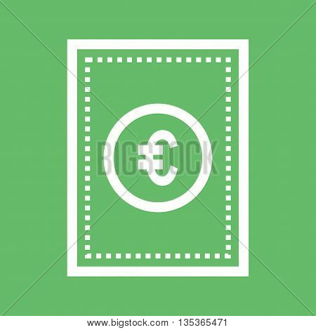 Euro, money, bills icon vector image.Can also be used for finances trade. Suitable for web apps, mobile apps and print media.