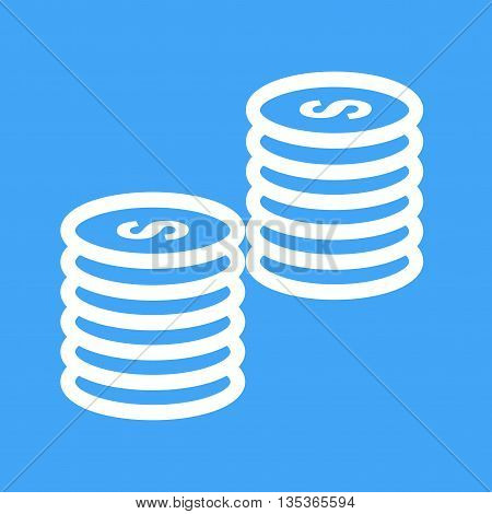 Money, coins, stack icon vector image.Can also be used for finances trade. Suitable for web apps, mobile apps and print media.