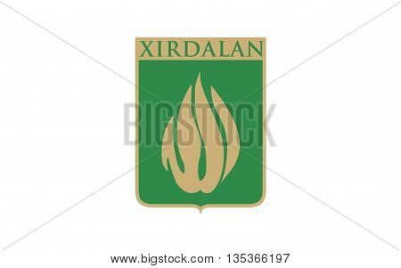 Flag of Xırdalan is a city and municipality in and the capital of the Absheron Rayon of Azerbaijan