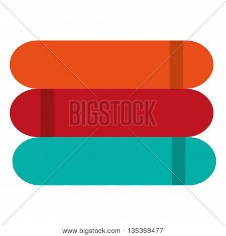 flat design three colored towels icon vector illustration