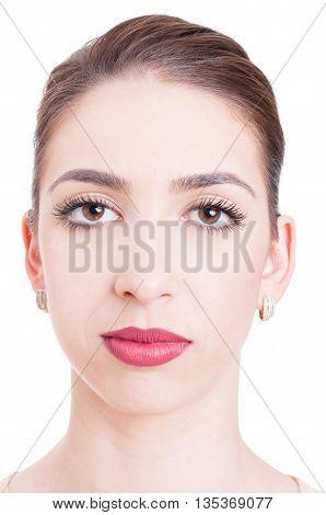Close-up Of Beautiful Young Woman Looking At Camera