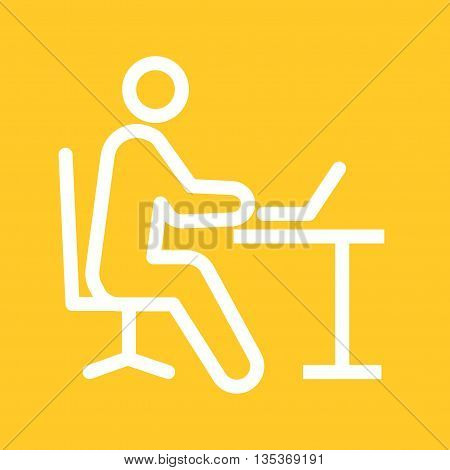Office, people, working icon vector image. Can also be used for employment. Suitable for use on web apps, mobile apps and print media.