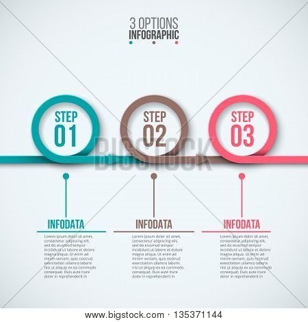 Vector circles for infographic. Template for diagram, graph, presentation and chart. Business concept with 3 options, parts, steps or processes. Abstract background.