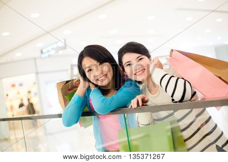 Woman go shopping together