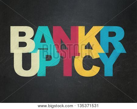 Finance concept: Painted multicolor text Bankruptcy on School board background, School Board