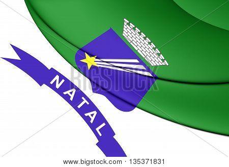 Flag Of Natal, Brazil.