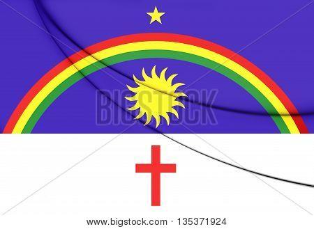 Flag of Pernambuco Brazil. Close Up.